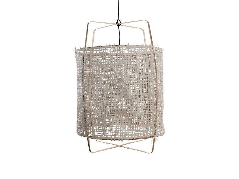 Ay Illuminate Hanging lamp Z1 bamboo gray cardboard ø67x100cm