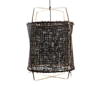 View Ay Illuminate Hanging Lamp Z1 Bamboo Black Cardboard ø67x100cm