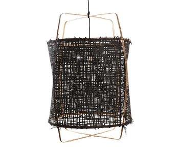 Ay Illuminate Hengelampe Z1 bambus svart kartong ø67x100cm