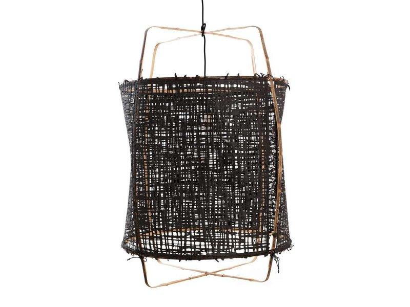 Ay Illuminate Hänglampa Z1 bambu svart kartong ø67x100cm