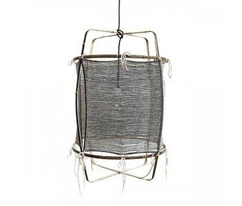 Ay Illuminate Hengelampe Z11 bambus svart kashmir ø48,5x72,5cm