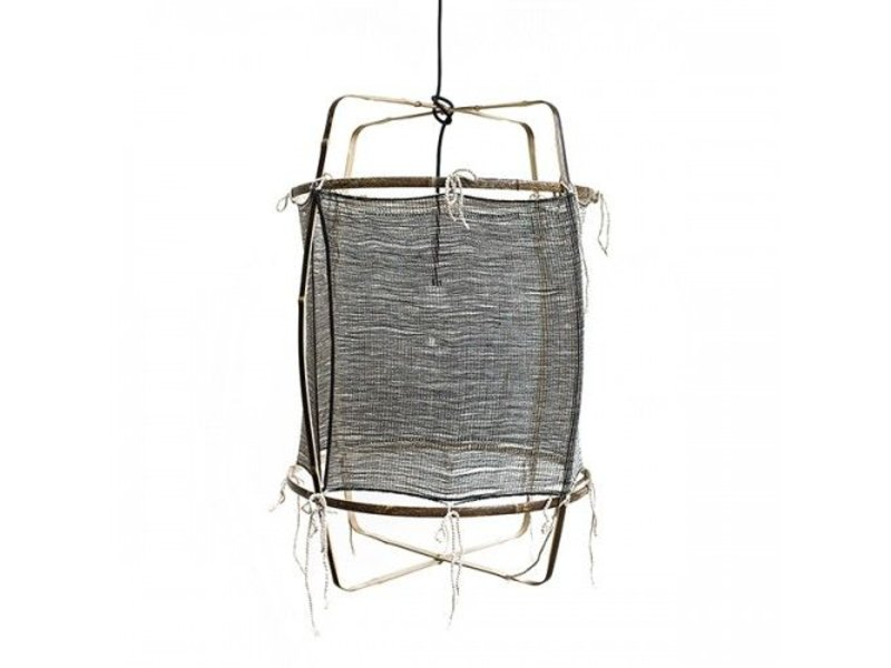 Ay Illuminate Hanglamp Z11 bamboe zwart cashmere ø48,5x72,5cm