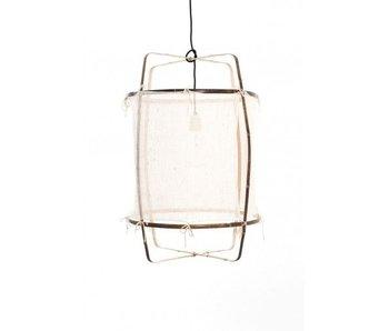 Ay Illuminate Lampada a sospensione Z11 in bambù bianco cashmere ø48,5x72,5cm