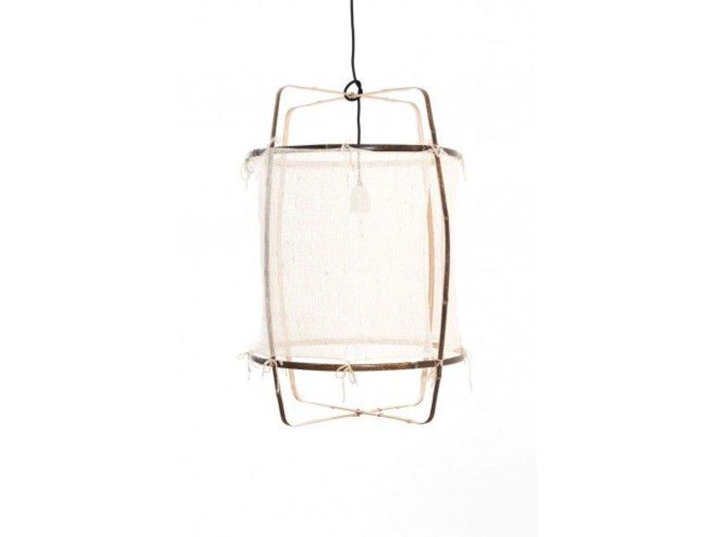 Ay Illuminate Hængelampe Z11 bambus hvid kashmir ø48,5x72,5cm