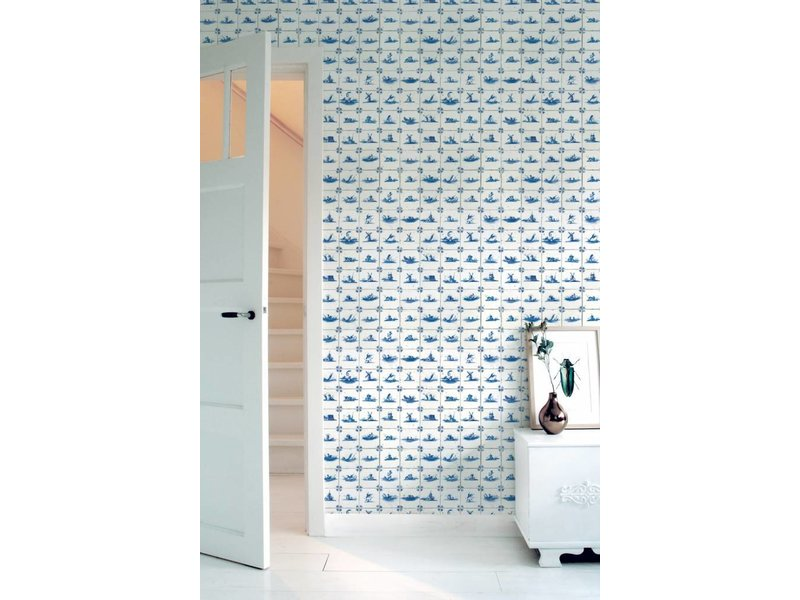 KEK Amsterdam Royal Blue Tiles behang