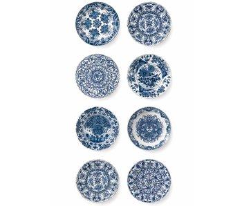 KEK Amsterdam Papier peint Royal Blue Plates
