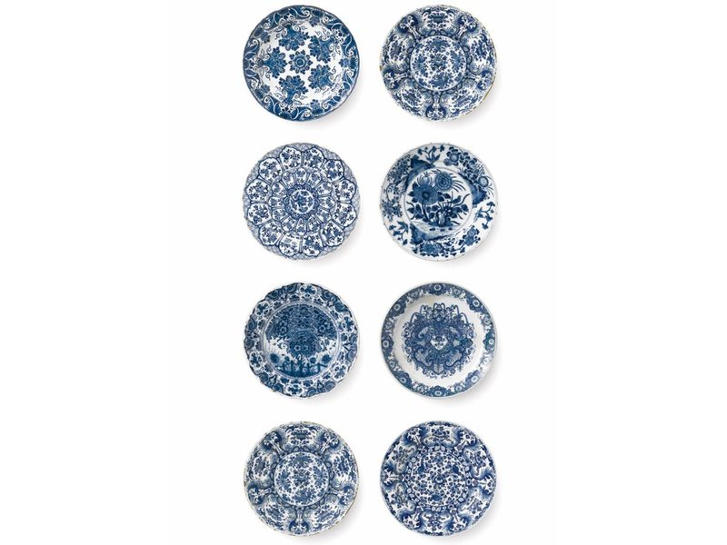 Kek Amsterdam Royal Blue Plates Wallpaper Living And Co