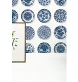 KEK Amsterdam Royal Blue Plates tapet