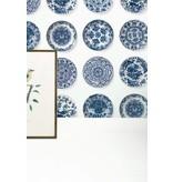 KEK Amsterdam Royal Blue Plates tapeter