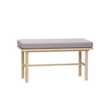 Hubsch Sofá con almohada gris
