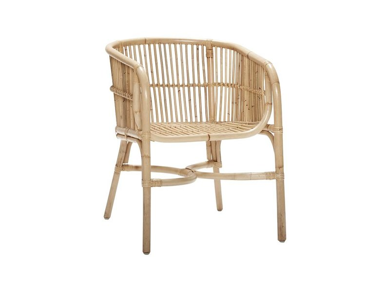 hubsch rattan chair natural set of 2