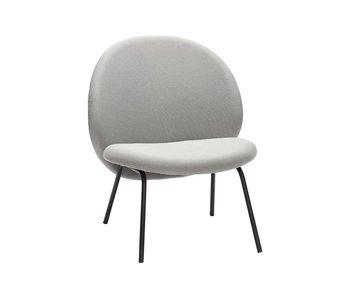 Hubsch Lounge chair in metallo grigio
