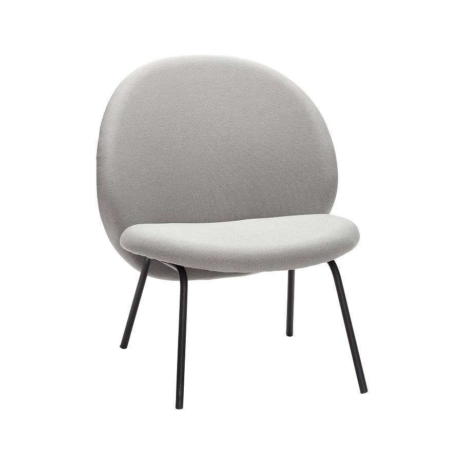 Hubsch lounge chair gray metal