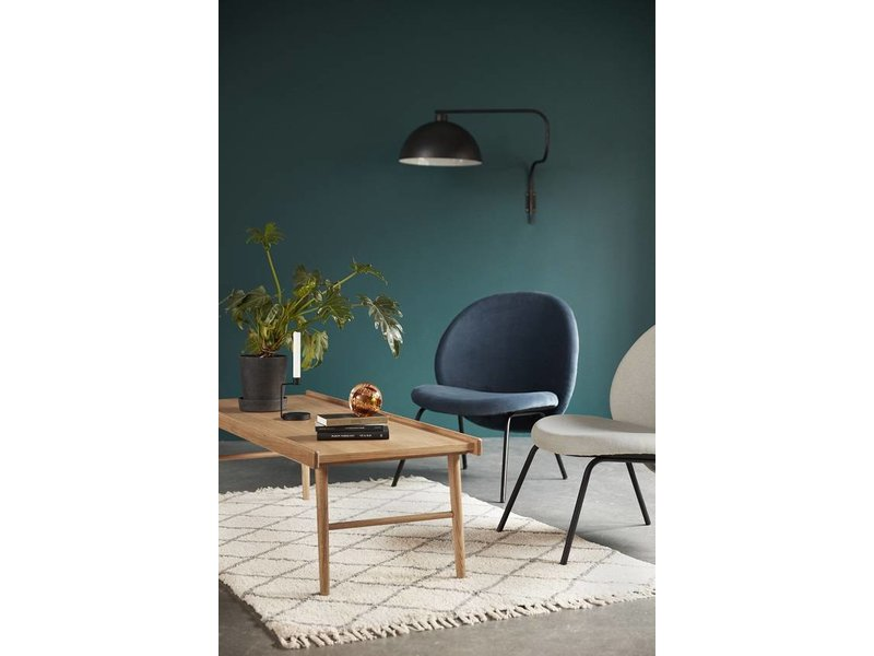 Hubsch Loungestoel grijs metaal