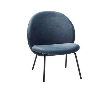 Hubsch Lounge stol blå metall