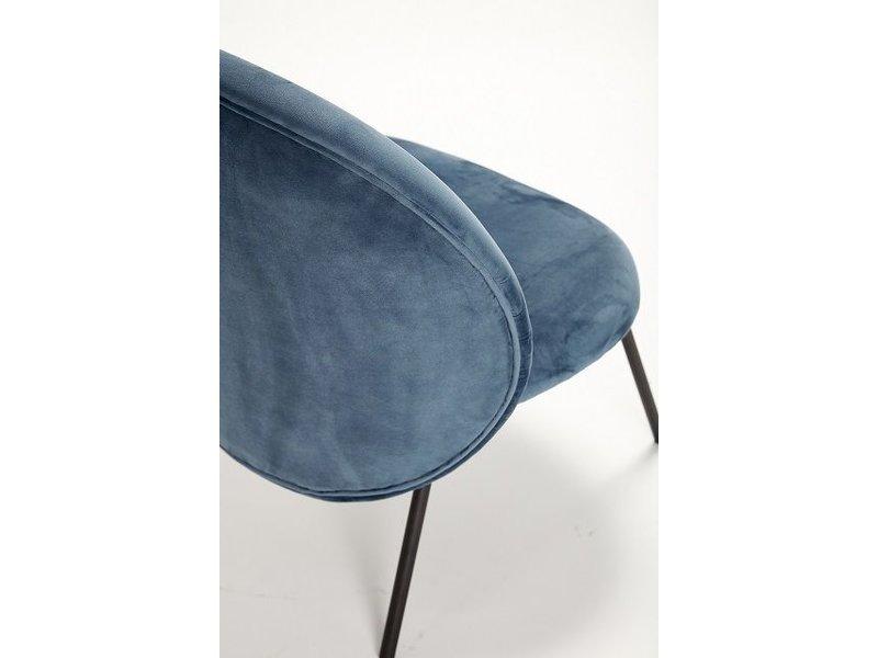 Hubsch Loungestoel blauw metaal