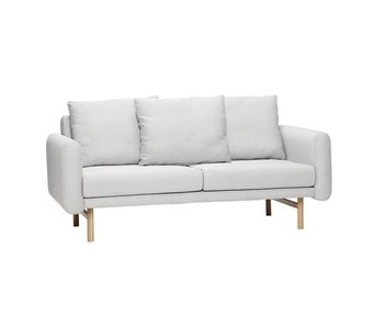 Hubsch Sofa light gray 2-seater