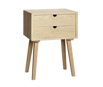 Hubsch Wooden cabinet with drawers