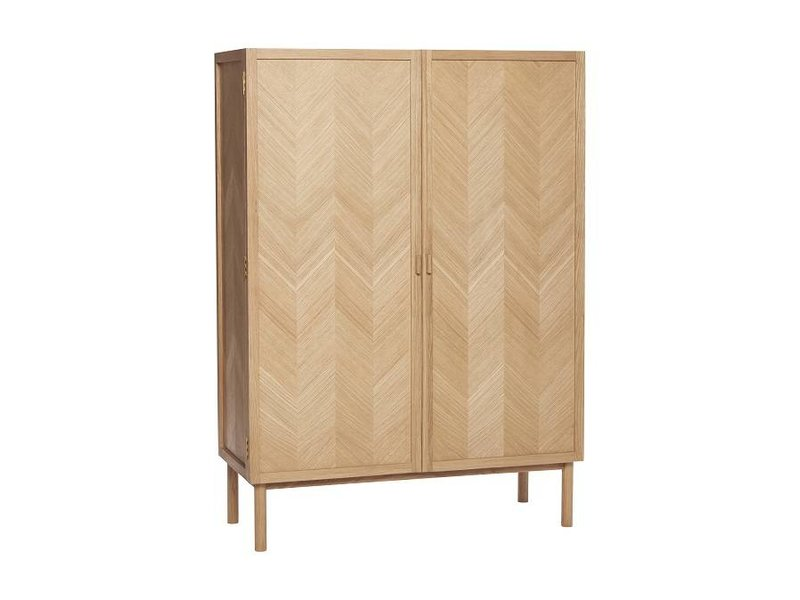 Hübsch Holzschrank mit Türen - LIVING AND CO.