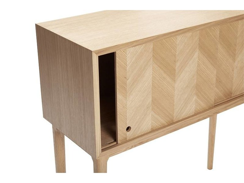 Hubsch Sideboard cabinet with sliding doors