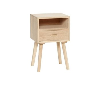 Hubsch Wooden cabinet with drawer
