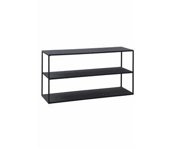 House Doctor Modelo C estante negro del hierro del gabinete