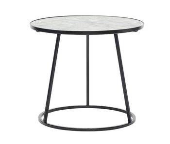 Hubsch Side table white marble