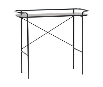 Hubsch Side table black metal