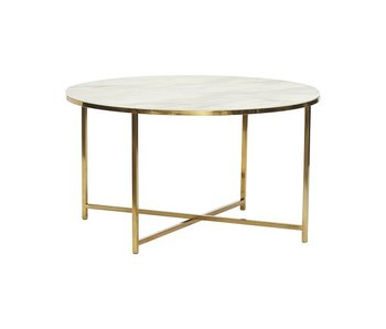 Hubsch Coffee table white marble