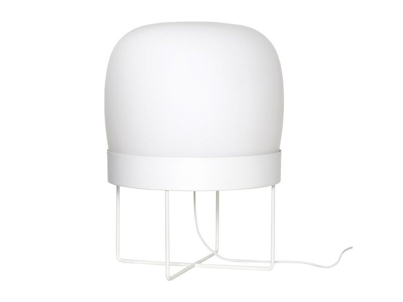 Hubsch Vloerlamp glas - wit