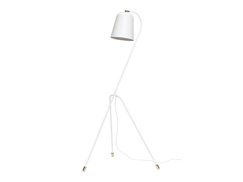 Hubsch Floor lamp white metal