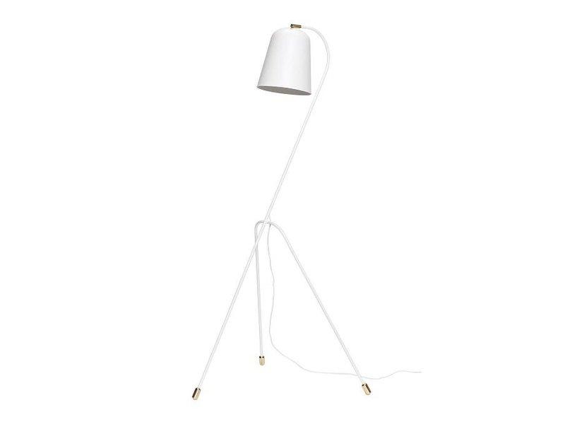 Hubsch Vloerlamp wit metaal