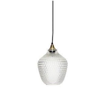 Hubsch Hanglamp glas met messing detail