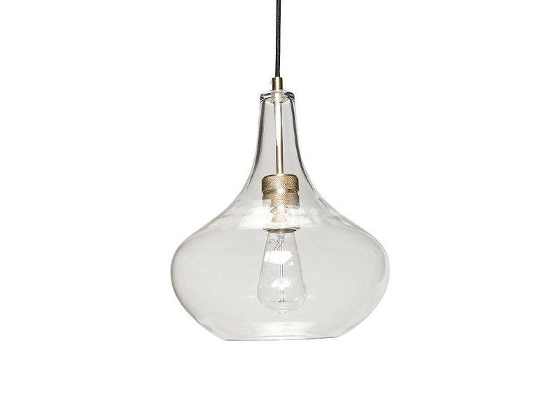 Lampade In Vetro A Sospensione : Lampada a sospensione hübsch in vetro con dettagli in ottone