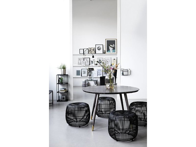 Incredible Modern Rattan Black Stool Gmtry Best Dining Table And Chair Ideas Images Gmtryco