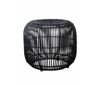 House Doctor Modern rattan black stool