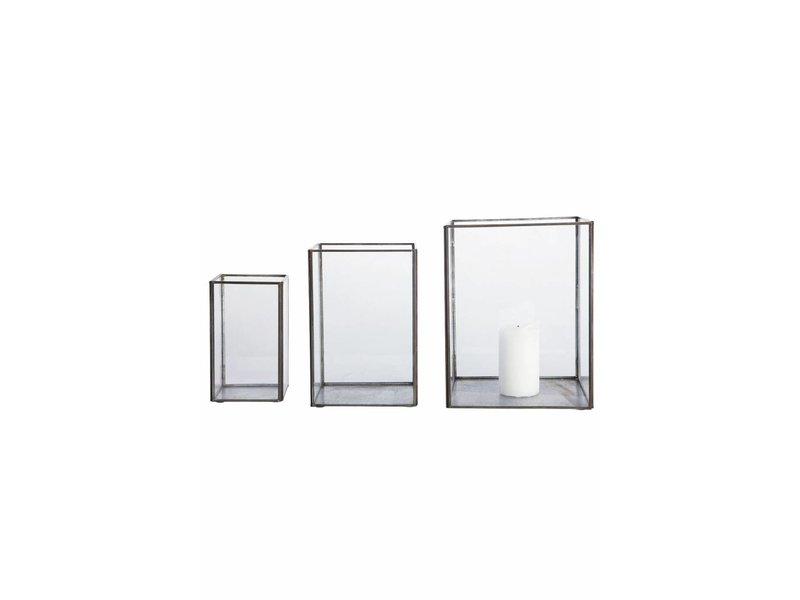 House Doctor Pillar kandelaar set van 3 zwart