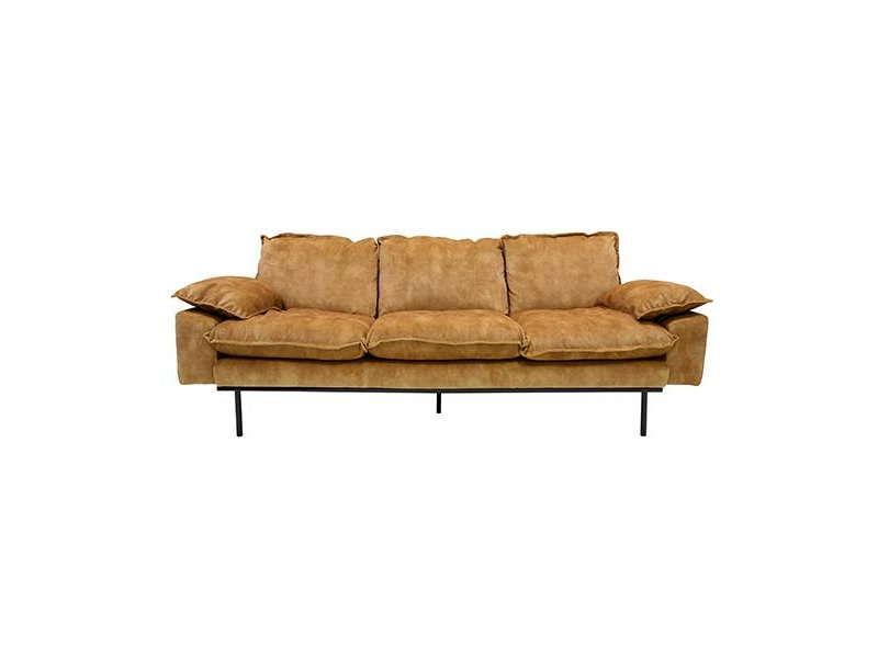 Hk Living Retro Sofa 3 Seat Mustard Yellow Living And Co