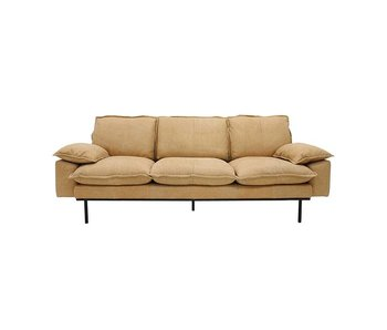 HK-Living Retro sofa 3-seater natural retro look leather