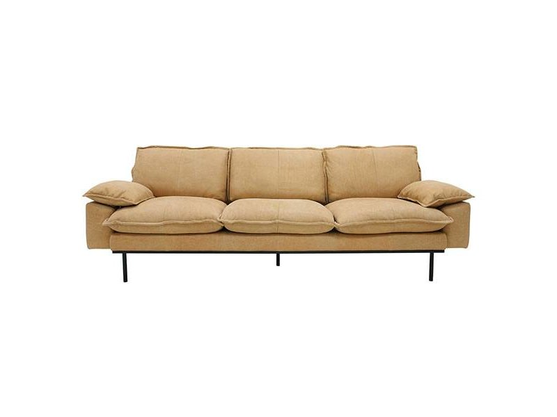 Hk Living Retro Sofa 4 Seater Natural Look Leather