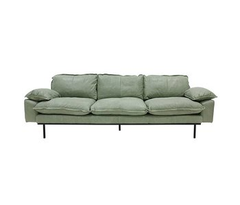 HK-Living Retro sofa 4-seater mint green retro look leather