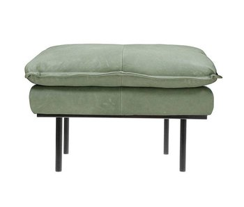 HK-Living Retro hocker mint green leather