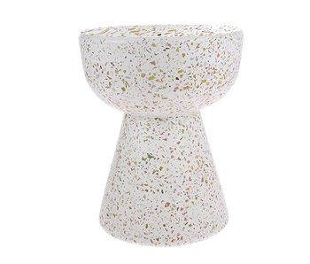 HK-Living Side table terrazzo