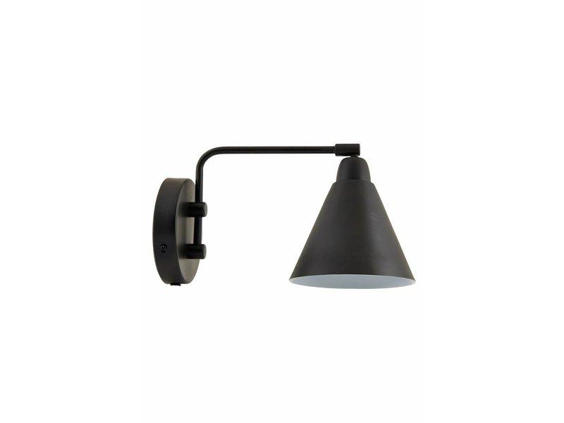 House Doctor Game wandlamp zwart wit metaal