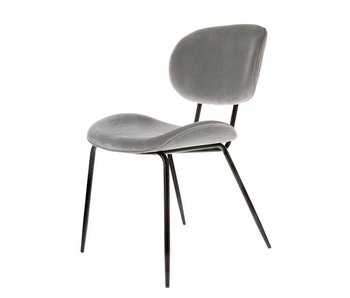 HK-Living Dining chair corduroy gray - set of 2 pieces
