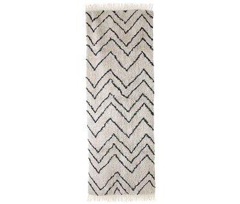 HK-Living Tapis coton zigzag 220x70cm