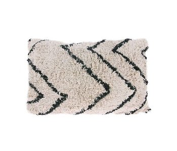 HK-Living Cushion cotton zigzag motif