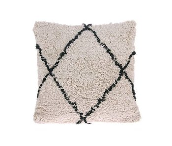 HK-Living Cushion cotton with diamond motif