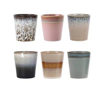 HK-Living Keramiktassen setzen 70's