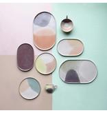 HK-Living Gallery dinerbord groen lilac - set van 4 stuks